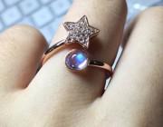 问答 | 一只月光石戒指的卖家图与买家秀