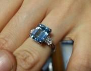 欣赏 | 惊艳的海蓝宝戒指