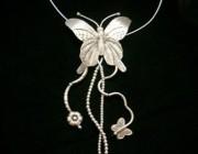 欣赏 | 银饰品蝴蝶项链欣赏