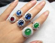 欣赏 | 显摆一下红宝石和蓝宝石戒指