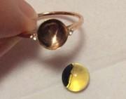 问答 | 这样的蓝铂戒指很难鉴别颜色?