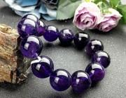 欣赏 | 星海斑斓的紫水晶手串