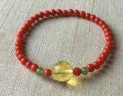 欣赏 | 红珊瑚,沙丁,蜜蜡---秀气的手链