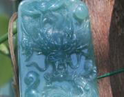 游记 | 淘到一件翡翠龙牌,是油青还是蓝水?(多图)