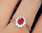 欣赏 | 小清新红宝石戒指