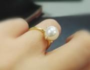 欣赏 |  新入akoya珍珠戒指小灯泡一枚