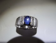 藍寶星石戒指