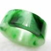 冰糯种飘绿精美细巧玉环