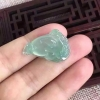 【玲珑福】翡翠冰种三角金蟾水灵通透清爽漂亮有大中小尺寸