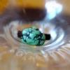 ·藏传老绿松石原矿竹山料苹果绿松石宝石手编古珠戒指