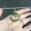 超值高档精品20圈口冰润辣绿阳绿100%天然翡翠a货玉指环 戒指戒圈