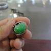 18K白金镶钻戒指--老坑冰种满色阳绿水润大气招财貔貅戒指