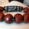 ·藏传尼泊尔小年份老天珠配凤眼菩提手串
