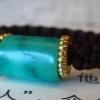 ·藏传清代老松石湖北竹山料绿松石瓷松戒指原矿无优化