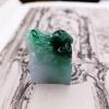 【凰上凰】天然缅甸A货蓝水绿招财貔貅印章