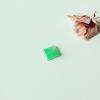 【咪雅翡翠】冰种带阳绿翡翠方片戒面