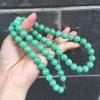阳光至爱 高档精品10mm同料满色阳绿100%天然翡翠a货玉项链 珠链