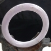 长寿珠宝!56.5mm缅甸老坑种A货翡翠紫罗兰圆条手镯11.04