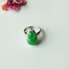 【咪雅翡翠】冰种阳绿翡翠葫芦戒指/吊坠两用款