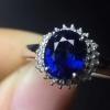 奢华豪镶蓝宝石戒指...