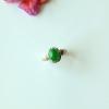 【咪雅翡翠】冰种正阳绿翡翠戒指