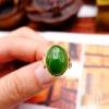 【凰上凰】和田玉碧玉镶金戒指18k玫瑰金镶嵌菠菜绿碧玉颜色