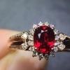 奢华豪镶鸽血红宝石戒指...