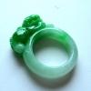 阳绿色貔貅19.2mm翡翠戒指扳...