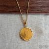 海外带回古董纯金币项链1987年...