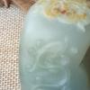 诚心出【冬不去中国玉】保真新疆和田玉原籽雕刻仿古汉韵小把件