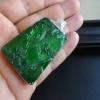 缅甸a货翡翠老坑满绿山水牌吊坠