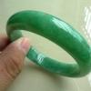 福玉缘翡翠 C1009 缅甸A货翡翠 冰糯种满绿色正装手镯 圈口:57MM