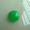 福玉缘翡翠 C0821 缅甸A货翡翠冰种阳绿大蛋面戒面