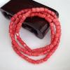 台湾momo红珊瑚 桶珠108佛珠 桃红色 颗颗精挑 完美品相 天然有机红宝石