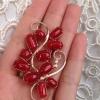 日本阿卡红珊瑚 18k金 胸针吊坠两用 天然钻石镶嵌  低调奢华