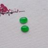 阳绿翡翠蛋面一对 自己加工 小件翡翠戒面