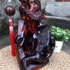 老挝大红酸枝笔挂:雕刻喜鹊,精美...