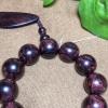 海南黄花梨,紫油梨手串,对眼鬼脸