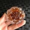 阿拉善冰种糖心玛瑙红莲花大件厚装