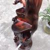 老挝大红酸枝笔筒:材质名贵,文房雅器