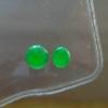 缅甸A货翡翠~F111306冰种阳绿蛋面一对