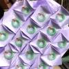 翠领珠宝天然缅甸翡翠a货冰糯种阳绿果绿平安环吊坠圆环