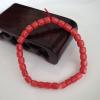 莫莫红珊瑚 桶珠单圈手串 完美全品 颗颗精挑磁感十足 天然无优化淘宝交易