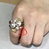 启恒珠宝 大牌款珍珠戒指 天然海珠配宝石