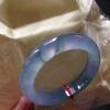 新货      1116翡翠A货细腻荧光高冰紫正圈美镯57.4mm