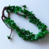 明月翡翠D1118*2175缅甸翡翠A货老坑辣阳绿随型手绳