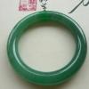【康辉翡翠】-老坑种满绿翡翠圆镯56.4MM