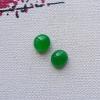 冰种满绿蛋面一对 耳钉镶件